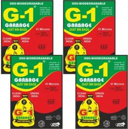 G-1 G 1 Oxo Biodegradable Black 120 Pieces Medium 15 L Garbage Bag(120 Bags)