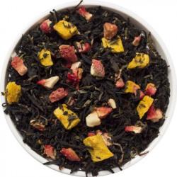 NAVVAYD Strawberry Mango Tea (50 Cups), 100% Natural Ingredients, 100 Gms Strawberry Black Tea Vacuum Pack(100 g)
