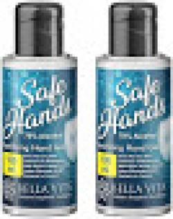 Bella Vita Organic SafeHands Hand Sanitizer With Neem & Aloe Vera Extracts 100 ml - 70% Alcohol (Pack Of 2)