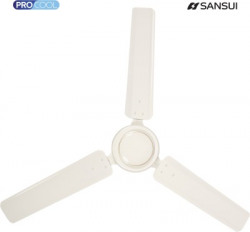 Sansui Classic SANIV1200 1200 mm Silent Operation 3 Blade Ceiling Fan(Ivory, Pack of 1)