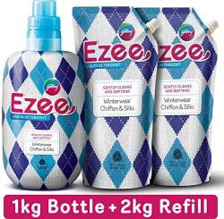 Godrej ezee liquid detergent winter wear,chiffon &silks 3kgs (1bottle+2refills)