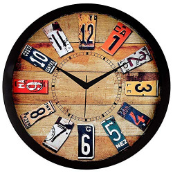 Efinito 12 Inch Farmhouse Wall Clock for Home/Living Room/Bedroom/Kitchen/Office/Kids Room - (Silent Movement,Black Frame)