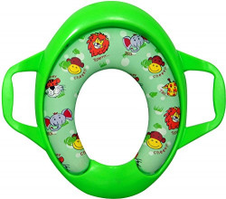 Sunbaby Soft Cushion Baby Potty Seat with Handle Support - Madagascar Edition (Green)