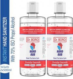 DR. BORO 2x500ml Hand rub ( Pack of 2 ) Hand Rub Bottle(2 x 500 ml)