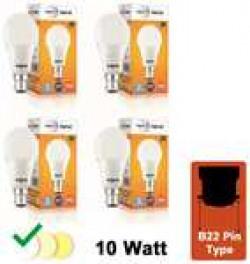 Wipro Garnet 10W LED Bulb 6500K (Cool Day Light) - Pack of 4