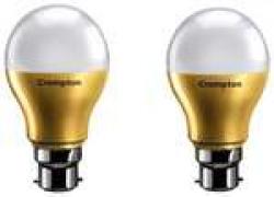 Crompton LED Lamp 7W B22 CDL Anti Bacterial Pack Of 2