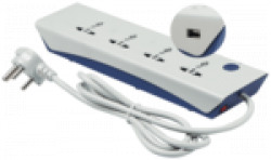 Havells Three Pin Blue & White Extension Board ( 2 m , 4 Socket , 1 Switches)