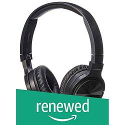 (Renewed) AmazonBasics Lightweight On-Ear Headphones - Black