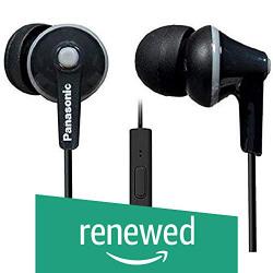 (Renewed) Panasonic RP-TCM125 Ergo Fit Stereo Headset (Black)