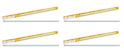 Wipro 22-Watt Mushroom LED Batten (Pack of 4, White)