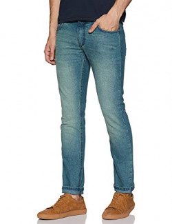 Newport University Men's Slim Fit Jeans (NUJN0983A_Light Blue-Green_32)