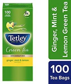 0 Tetley Green Tea, Ginger, Mint and Lemon, 100 Tea