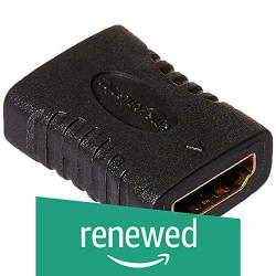(Renewed) AmazonBasics HDMI Coupler,Black
