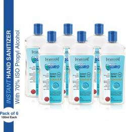 Aryanveda Herbals Bodyguard  Disinfectant Gel 100 ml Each, Pack of 6 Hand Sanitizer Bottle(6 x 100 ml)