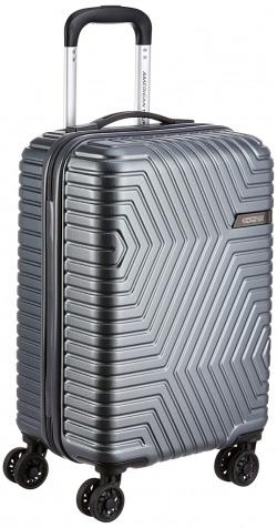 American Tourister Ellen ABS 54.5 cms Grey Hardsided Cabin Luggage (AMT Ellen SP55 cm TSA Grey)