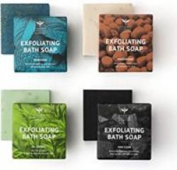 Bombay Shaving Company Exfoliating Bath Soaps, 100g (Pack of