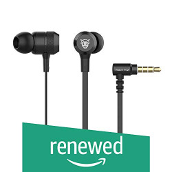 (Renewed) Ant Audio Wave 702 in -Ear Extra Heavy Bass Headphone with Mic (Jet Black)