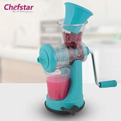 Chefstar Fruit & Vegetable Nano Manual Juicer Plastic juicer, Blue