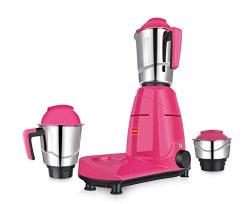 Cello Scania 3C 750-Watt Mixer Grinder with 3 Jars (Pink)