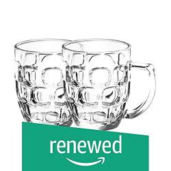 (Renewed) Treo By Milton Cascade Beer Mug,292ml, Set of 2, Transparent