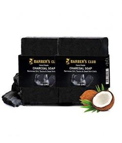 Barber's Club Handmade Organic Charcoal Soap (100gm Each) - Pack of 2