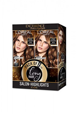 L'Oreal Paris Excellence Fashion Highlights, Honey Blonde, Pack of 2, 2 x (29 ml + 16 g+ Expert brush)
