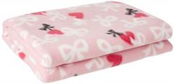 LuvLap Polar Fleece Baby Blanket, 70cm x 100cm, Pink Bow