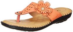 Feetful Women's Peach Slippers-6 UK/India (39 EU) (571-16025)