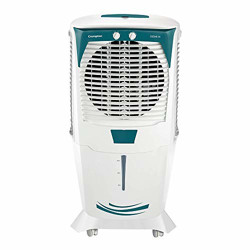 Crompton Ozone 75-Litre Inverter Compatible Desert Air Cooler with Honeycomb Pads for Home and Commercial (White and Teal)