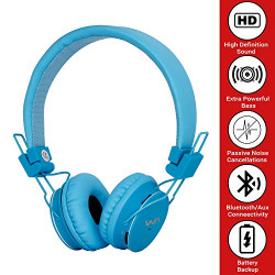 Deals On 1971 Wireless Bluetooth Headphone TM 015 with Memory Card Support, FM Radio Enabled and Battery (Blue)