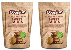 Vacuum Fried Chips of Sweet Potato. (Pack of 2)