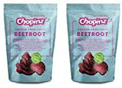 Vacuum Fried Chips of Beet Root(Pack of 2)