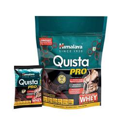 Himalaya Quista Pro Advanced Whey Protein Powder Travel Pack - 7 X 34 g (Chocolate)