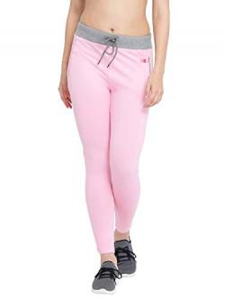 Clovia Women's Cotton Gym/Sports Activewear Tights (AT0073P22_Pink_XXL)