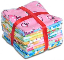 JARS Collections Set Of 12 Cartoon Design Face Towels 61% OFF