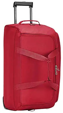 Safari Pret 59 Cms Polyester Red Check-In 2 Wheels Soft Duffle