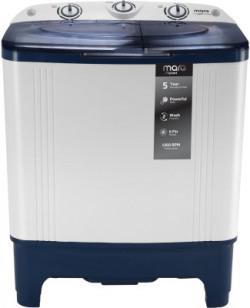 MarQ by Flipkart 6.5 kg Semi Automatic Top Load White, Blue(MQSAHB65)