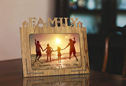 Poster N Frames Decorative Family Hand Crafted Wooden Table Photo Frame 5x7