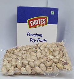 EXOTES Pista Roasted & Salted Vacuum Packed Popular Pouch, 250 g