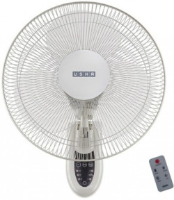 Usha Mist Air ICY with Remote 400 mm 3 Blade Wall Fan(white, Pack of 1)