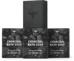 Bombay Shaving Company Activated Bamboo Charcoal Bath Soap for Deep Clean and Anti-pollution Effect(3 x 125 g)