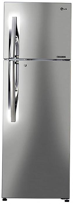 LG 284 L 2 Star Inverter Frost-Free Double Door Refrigerator (GL-T302RPZU, Shiny Steel)