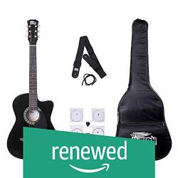 (Renewed) Intern INT-38C Acoustic Guitar Kit (Black)