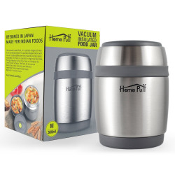 Home Puff Double Wall Vacuum Insulated- Stainless Steel Food Jar (380 Ml)