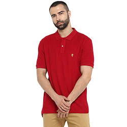 Red Tape Men's Solid Regular fit Polo (RPH7038A_Red M)