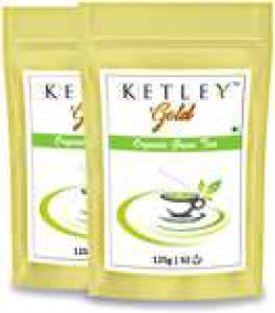Ketley Gold Premium Organic Green Tea 250g , Pack of 2 of 125g each