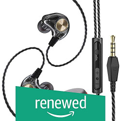 (Renewed) WeCool W001 Wired in-Ear Earphones with Mic 6D Super bass Stereo Sound, Sports fit Earphone Compatible with Android, iOS, Laptops with Free Carry case