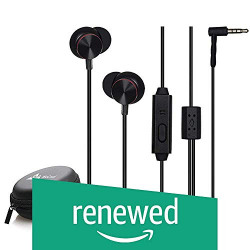(Renewed) WeCool W003 Metal High Bass in-Ear Wired Earphones for mobiles, headsets with Mic, Earphones for Mobile, with Carry Case - (Black)