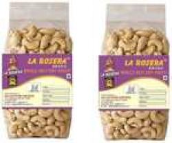 La Rosera Premium Cashew Nuts (500g Pack of 2)