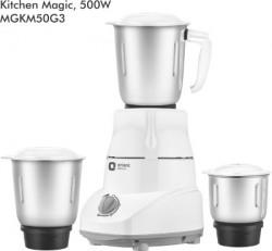 Orient Electric Kitchen Magic MGKM50G3 500 W Mixer Grinder(White and Grey, 3 Jars)